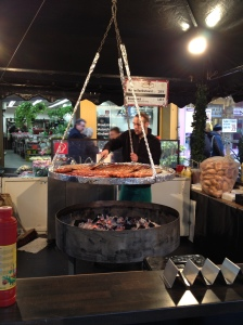 Sausages being cooked spreading a lovely smell