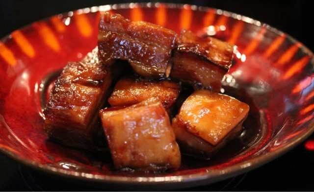 prosecco glazed pork belly