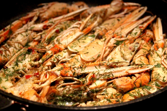 how to cook live langoustines