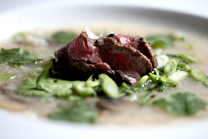 congee with steak