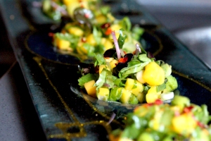 Mango and spring onion salsa