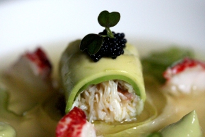 crab and avocado roll