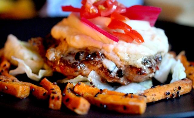 leek and chilli burger