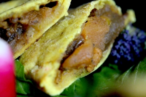 Caribbean vegetarian patty