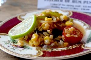 Caribbean sweetcorn salad