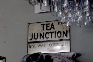 Tea junction sign