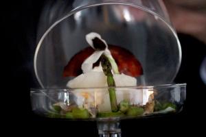 smoked cod and cockel salad starter