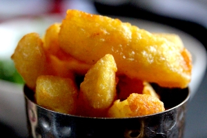 triple cooked chips at the Gilbert Scott Bar