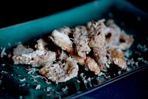 truffle crispy chicken skin