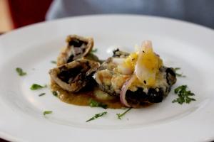 mushroom samosa at The Ambrette Margate