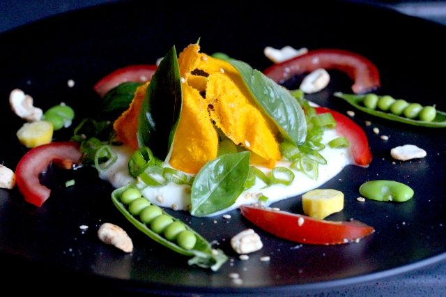ricotta and courgette flower salad