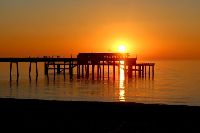 Sunrise over Deal pier