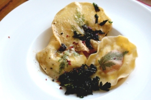Uovo in Raviolo, pasta with egg inside
