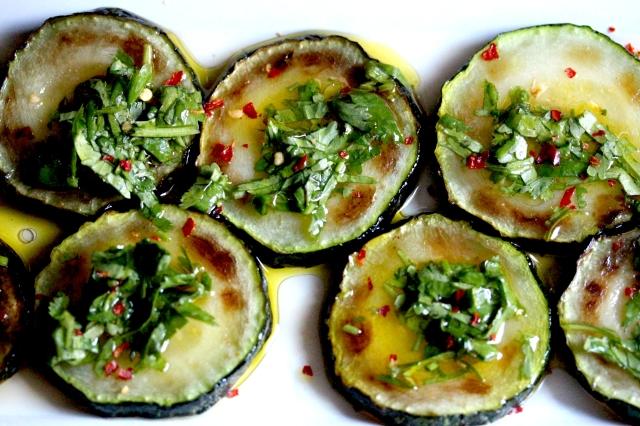 Marinated courgette, marinated zucchini