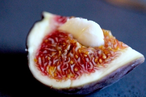 mozzarella stuffed fig