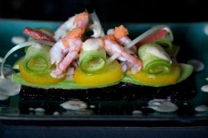 prawn salad with plum dressing
