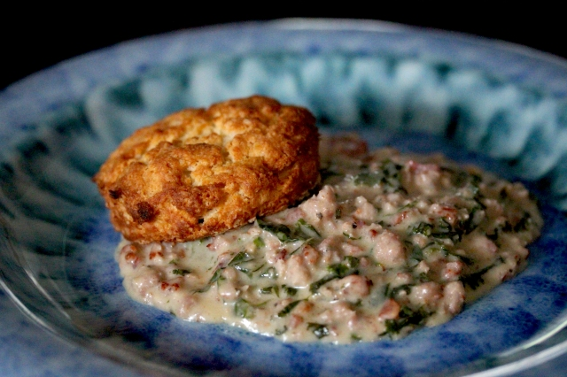 biscuit and sausage gravy