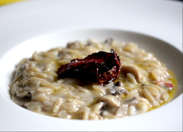 Mushroom and coconut risotto