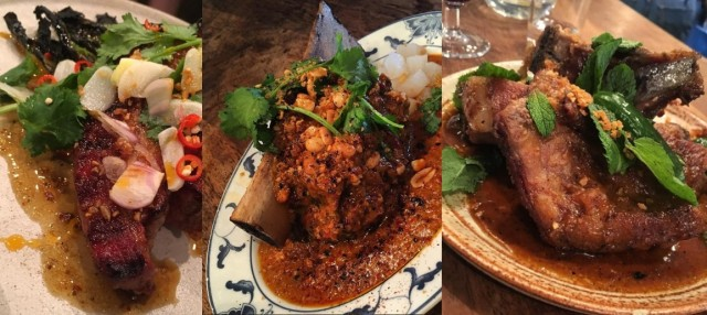 trio of curries from The Smoking Goat