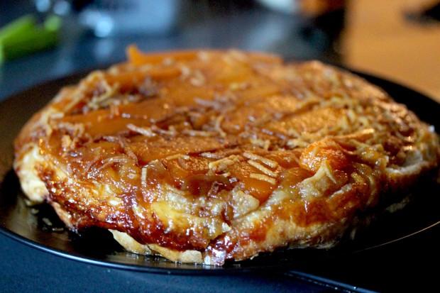 marrow and ginger tarte tatin