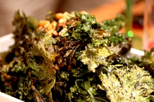 crispy kale and walnuts