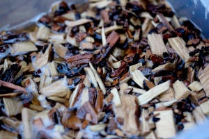 brandy soaked hickory wood chips
