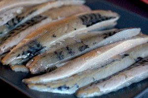 Filleted mackerel