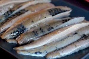 Filleted mackerel