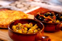 olives and tortilla