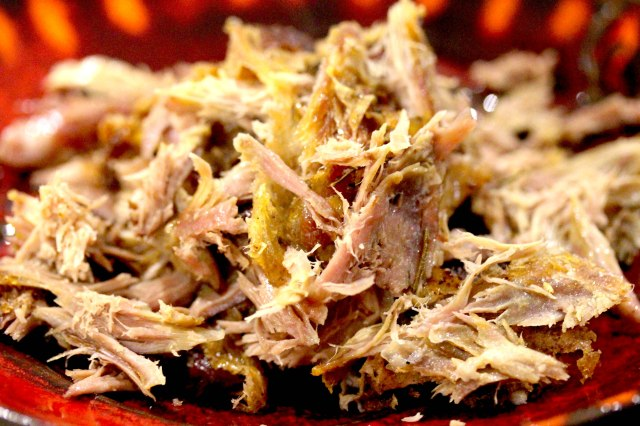 Shredded crispy duck