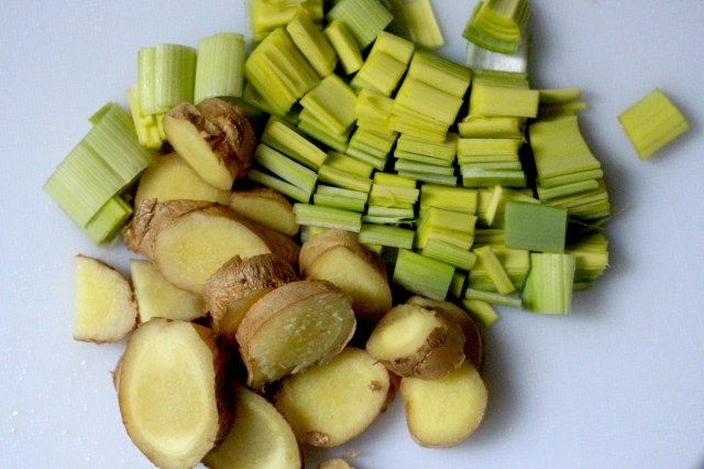 ginger and leek