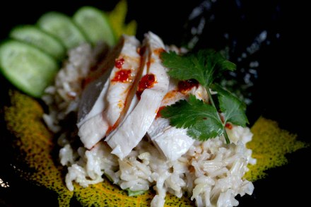 Hainanese chicken and rice