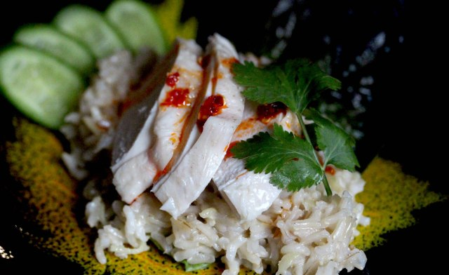 Hainanese chicken and rice