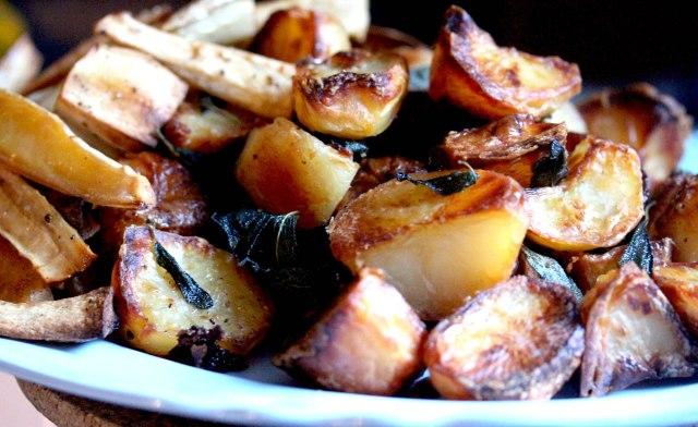 sage and cranberry roast potatoes