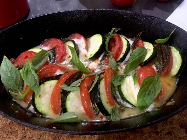 Cheesy Italian vegetable bake