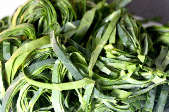 sliced greens