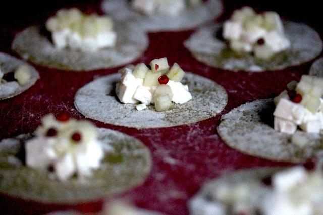 Goats cheese ravioli