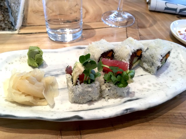 tuna maki roll at Roka London