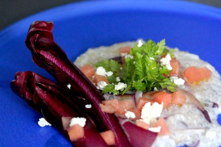 Tapioca and radicchio risotto