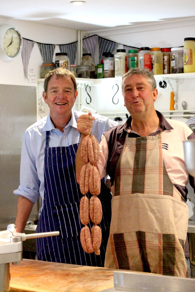 Sausage making at the Black Pig Butchers