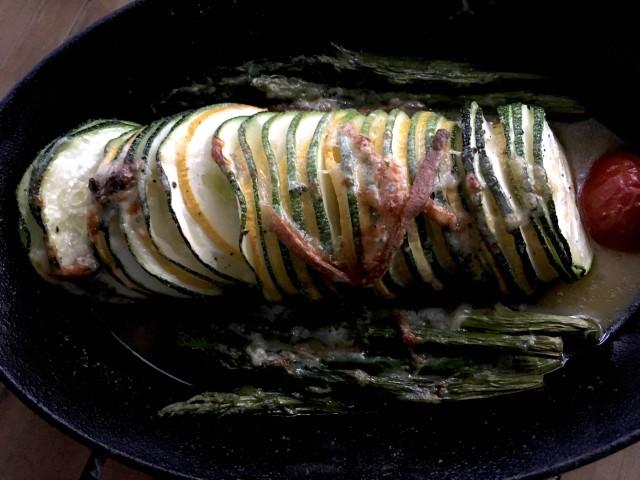 Stilton baked vegetables