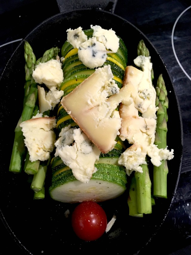 Stilton baked vegetables