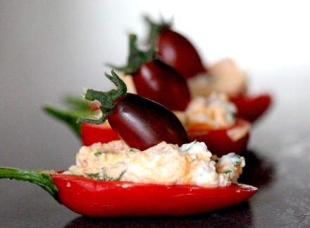 Goats Cheese Stuffed Peppers