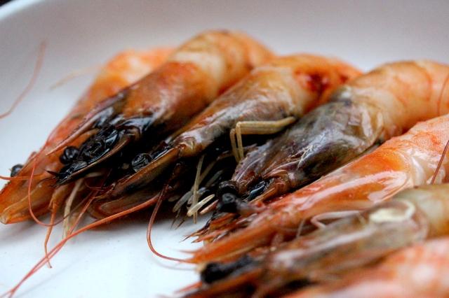 Smoked prawns