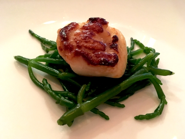 smoked oyster and samphire
