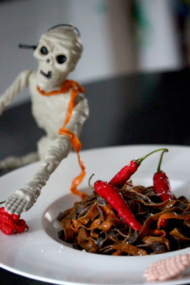 Halloween pasta