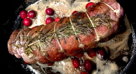 loin of Venison with Cranberries