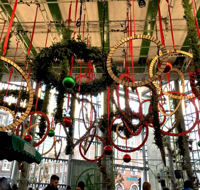 Christmas decorations at Borough market