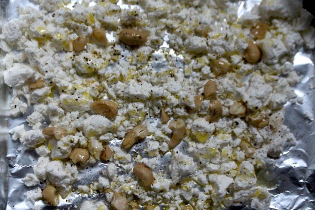 Feta cheese and cashew nuts