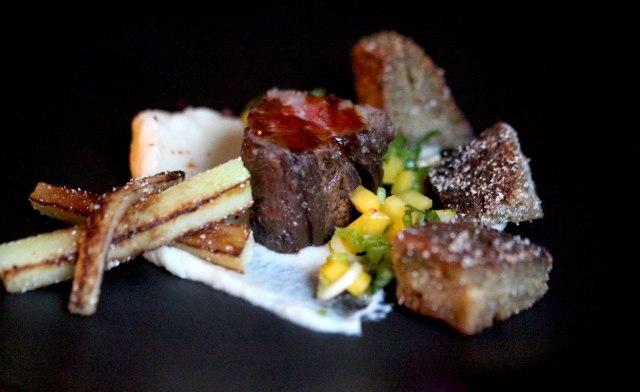 Steak and celeriac cake